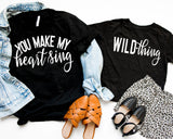 Bundle Mommy and Me You Make My Heart Sing Wild Thing Screen Print Transfer