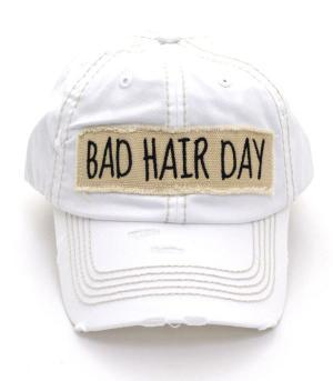 """Bad Hair Day"" White"