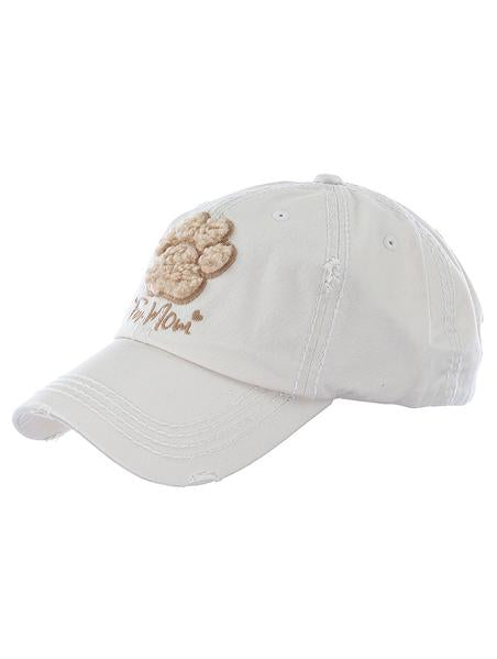 "Hat "" Fur mom"" with tan paw"