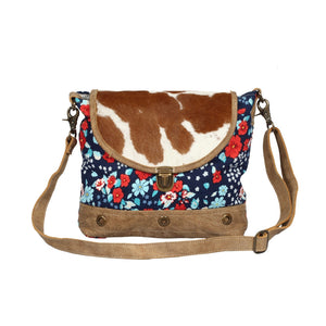 Jazzy Floral Hide Flap bag