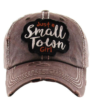 "Hat ""just a small town girl"""