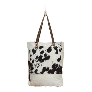 Black & White Hair-on-Hide Bag