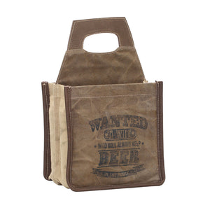 """Wanted a wife"" 6 pack beer caddy"