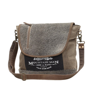 Hair-on Flap over Messanger bag
