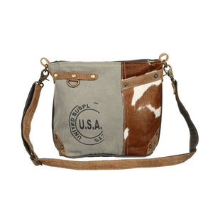 USA Stamp Hairon Pocket shoulder bag