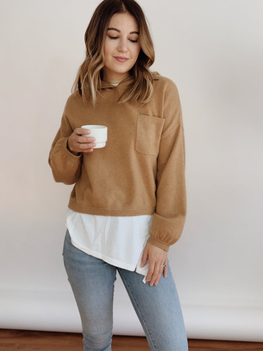 Cashmere Lounge Crop Hoodie