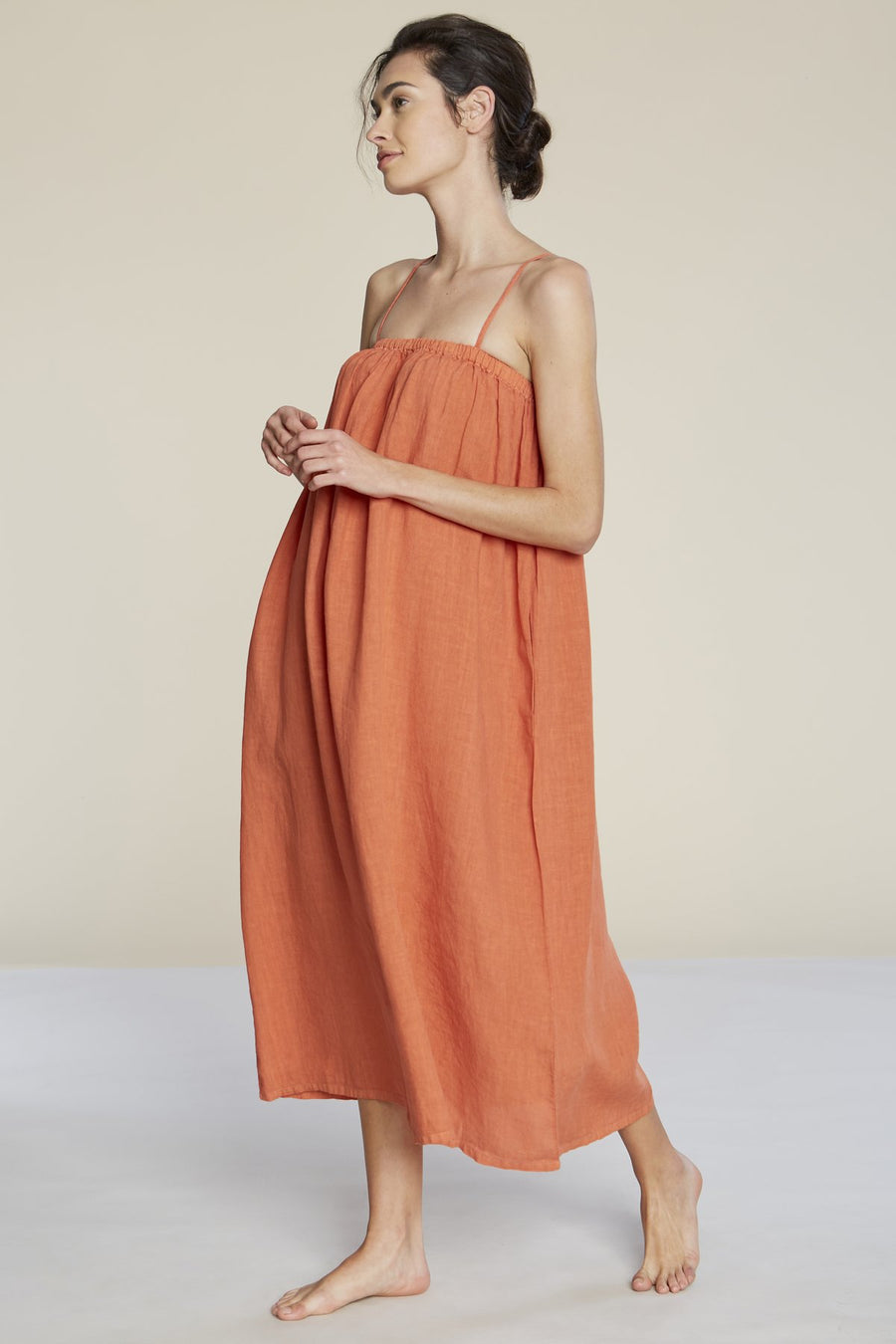 Filosofia Leah Linen Maxi Dress in Koi