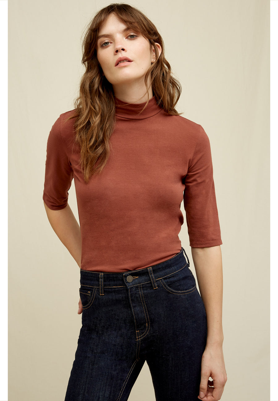 People Tree Cecily Mock Neck Top