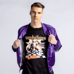 Vengaboys like to party T-shirt on model | T-shirts | WeLiketoParty.com | Official Vengaboys Merchandise