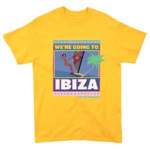 Ibiza T-shirt in Yellow | T-shirts | WeLiketoParty.com | Official Vengaboys Merchandise