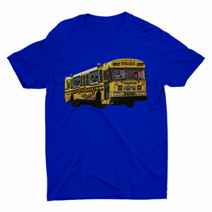 Vengaboys Vengabus T-shirt in Blue with Vengabus print | T-shirts | WeLiketoParty.com | Official Vengaboys Merchandise