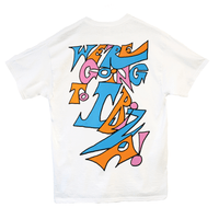 SSHH x Vengaboys T-shirt in white - Vengaboys on the front & We're going to Ibiza on the back | T-shirt | WeLiketoParty.com | Official Vengaboys Merchandise