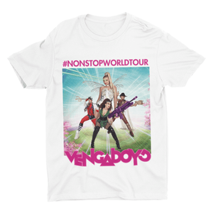Vengaboys Non Stop World Tour Tee | T-shirts | WeLiketoParty.com | Official Vengaboys Merchandise
