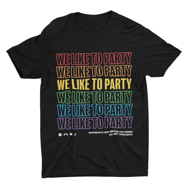 We Like to Party Rainbow T-shirt