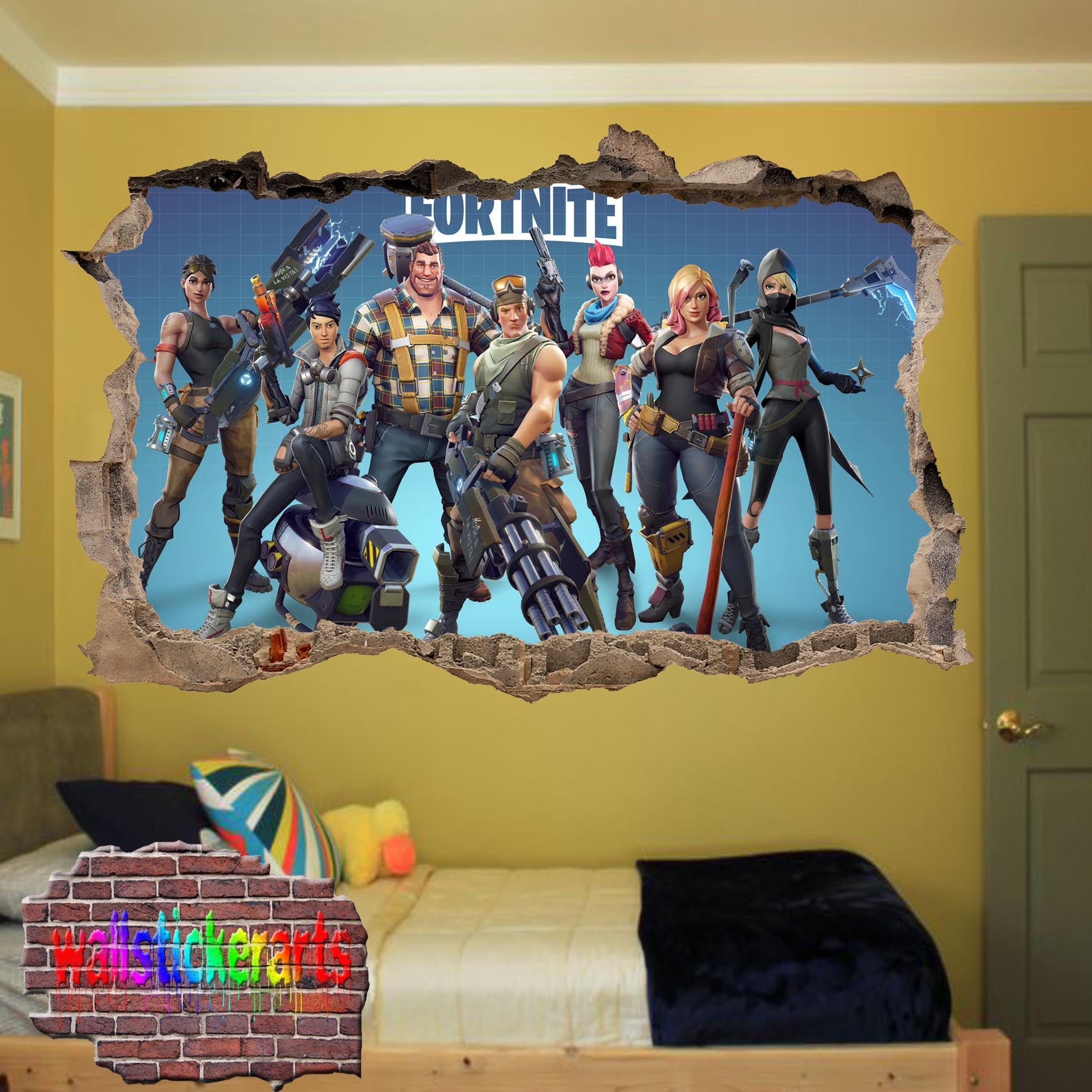 Fortnite wall sticker mural decal poster