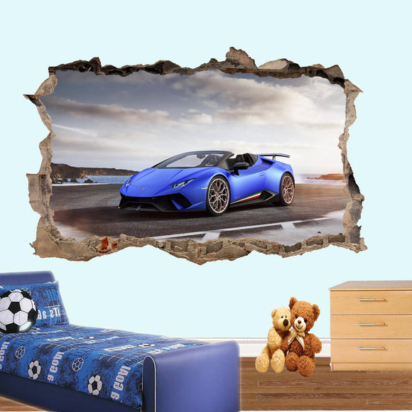 Details about  /3D Motorcycle N01 Car Wallpaper Mural Poster Transport Wall Stickers Amy