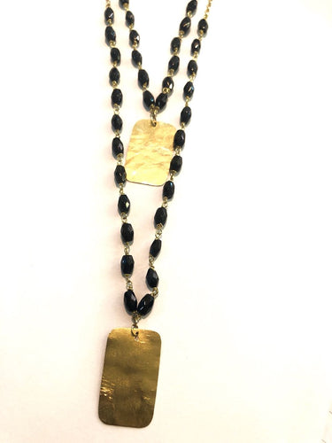tNecklace (Sautoir) Gold 18k with Onyx