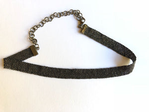 Necklace Choker Black Gold Fiorella
