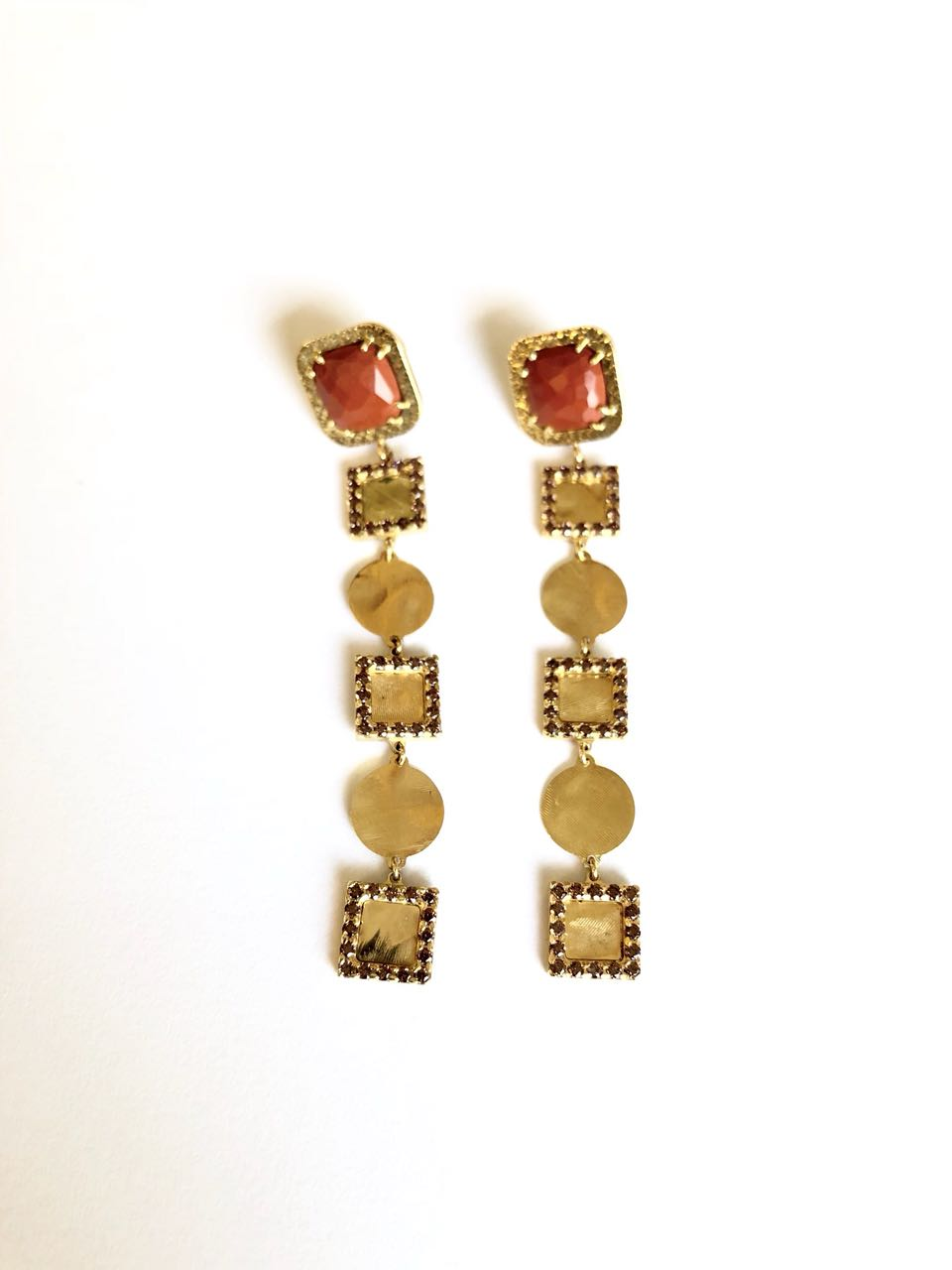 Earrings with Red Jasper and Spinel Fiorella