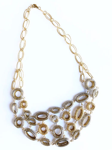 Necklace White and Gold 18k Fiorella