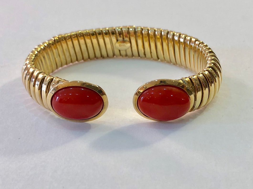 Bracelet 18k Gold with Coral Made in Italy
