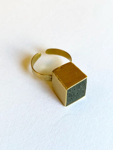 Ring Concrete (béton) Gold Plume Collection