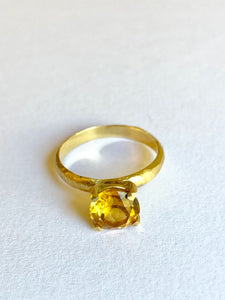 Topaz Ring Gold Plume Collection