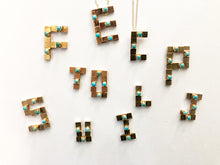 18k Gold Module with Natural Turquoise to create your own custom letter