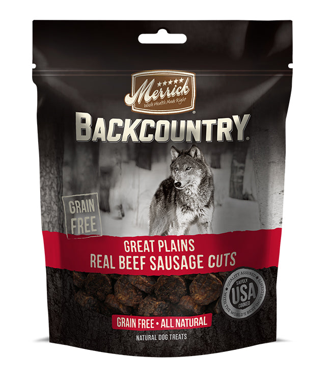Merrick Backcountry Great Plains Real Beef Sausage Cuts 7OZ