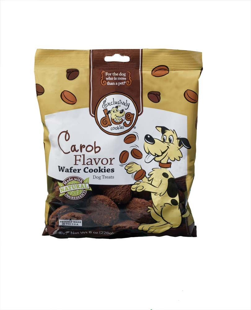Exclusively Pet Wafer Cookies Carob Flavor Dog Treats 8oz