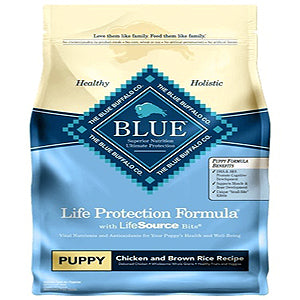 Blue Buffalo Dog Healthy Living Puppy Chicken Brown Rice Rice 15 Lbs