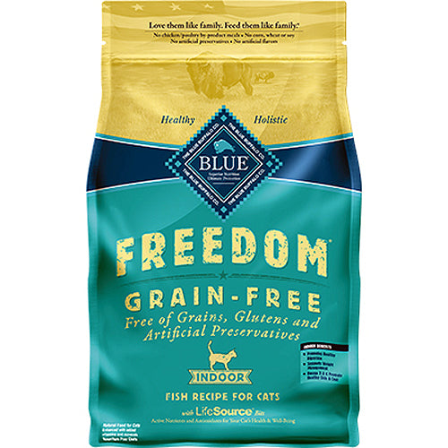 Blue Buffalo Cat Freedom GF Indoor White Fish 5 Lbs