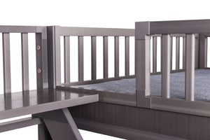 Gray Aspen Bunk Bed - PetCareShops