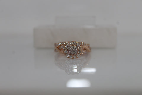 Diamond Engagement Ring Wedding Set