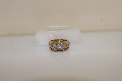 Diamond Engagement Wedding Set