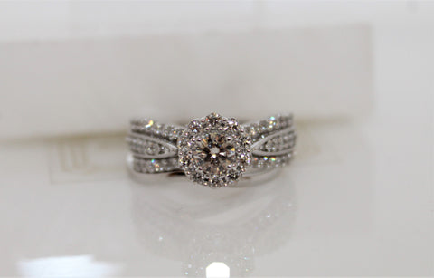 Bridal Diamond Wedding Set