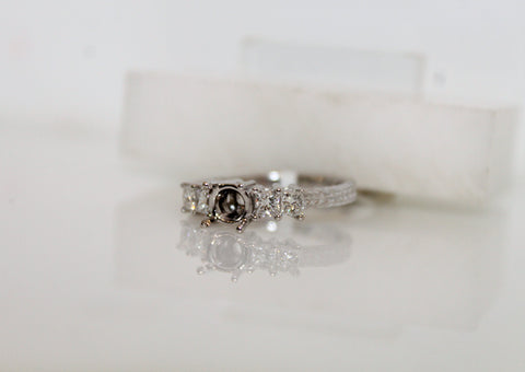 Bridal Engagement Semi-mount Ring