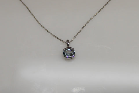 White Gold Aquamarine Necklace