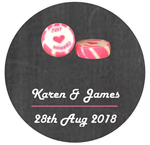 Personalised Wedding Favour Sticker Seal Label X105 Design S77
