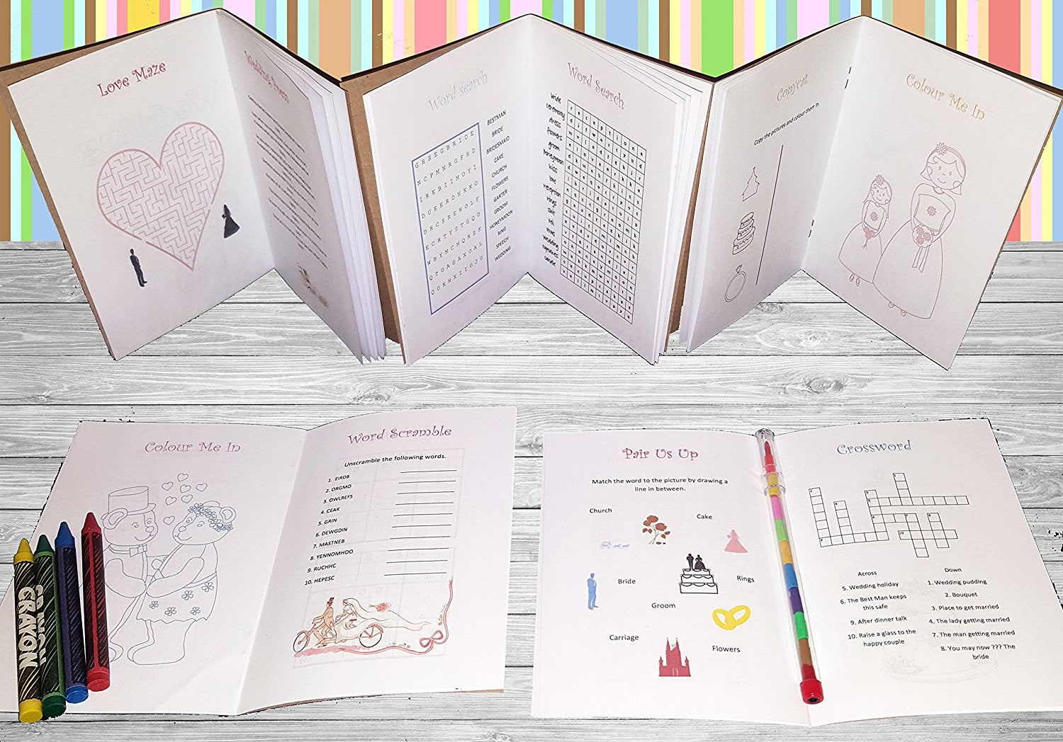 Personalised Childrens Kids Wedding Activity Pack Book Favour Gift