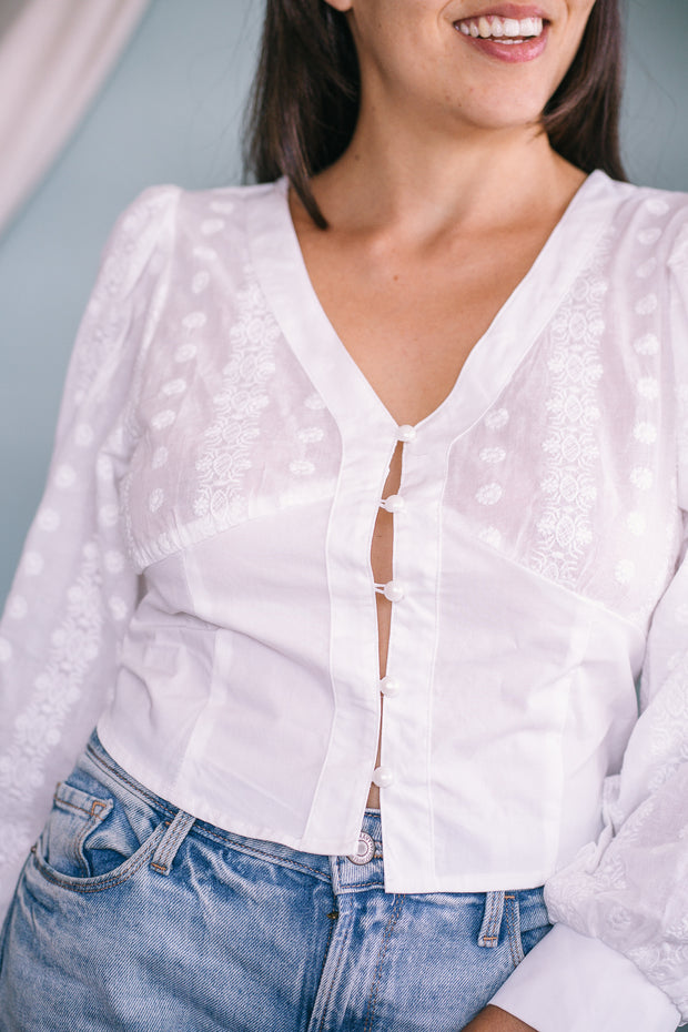 Sarah embroidered top