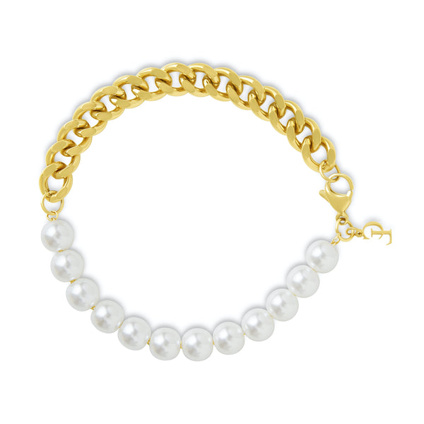 The Pearl Bracelet (Gold)