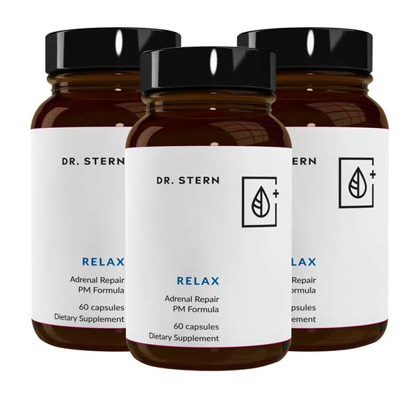 RELAX - THE DEEP SLEEP & SUSTAINED ENERGY SOLUTION (3 BOTTLE BUNDLE )
