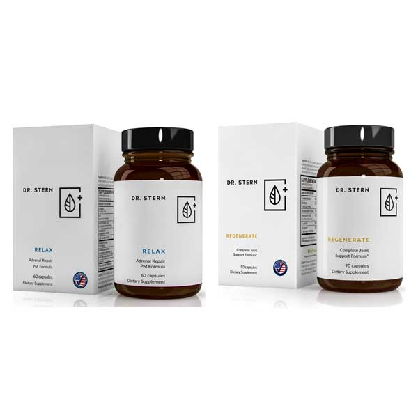 RELAX + REGENERATE -  COMPLETE ADRENAL AND JOINT SUPPORT SYSTEM