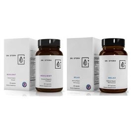 RELAX + RESILIENT -  COMPLETE ADRENAL AND IMMUNE SUPPORT SYSTEM