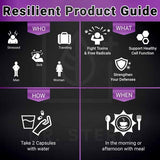 RESILIENT – IMMUNE SUPPORT FORMULA  (5 BOTTLE BUNDLE )