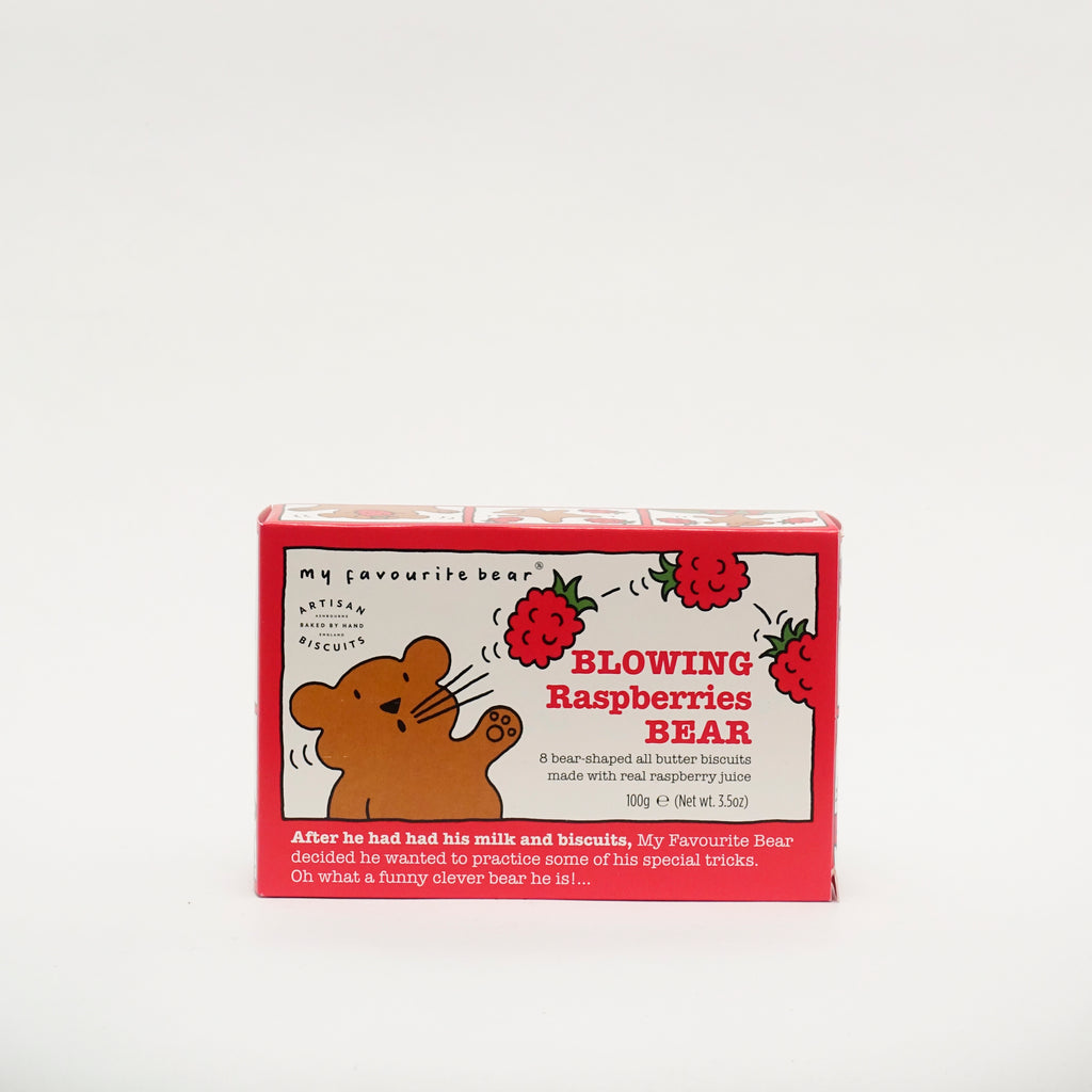 Blowing Raspberry Bear Biscuits
