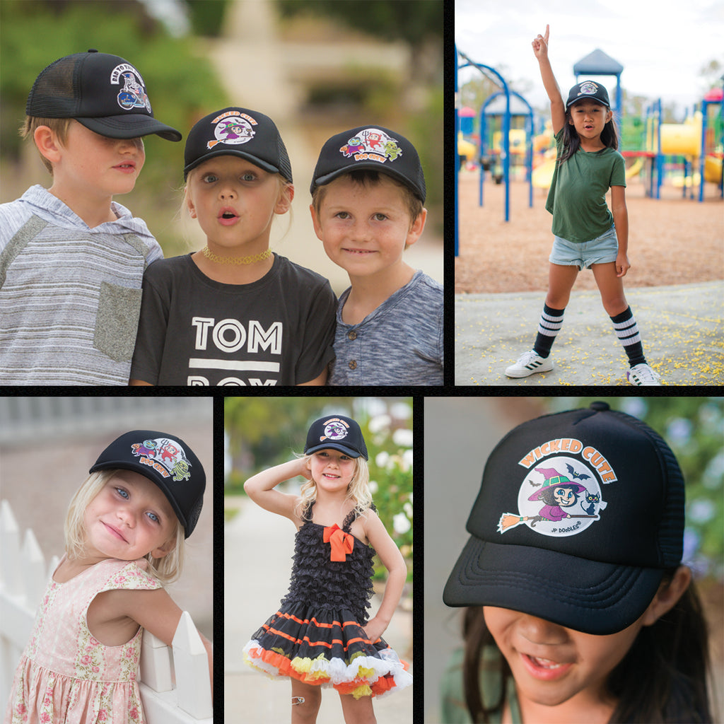 New Spooktacular Kids Halloween Trucker Hats!