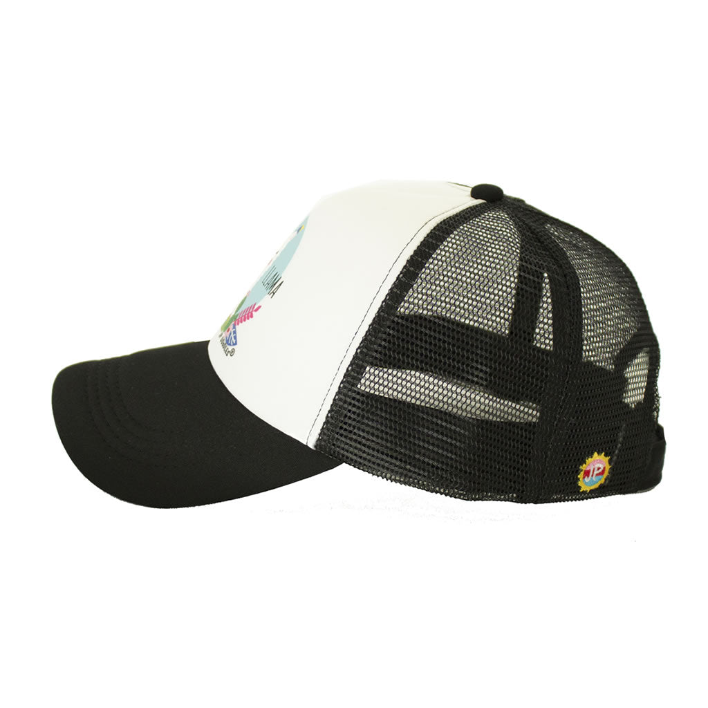 Black Mama Llama Womens Trucker Hats Side View
