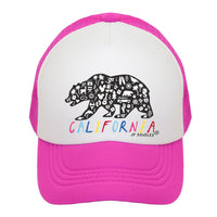 California Rainbow Bear Kids Trucker Hat